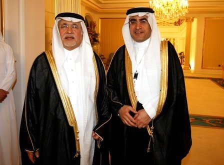 Dr Azzam Al Dakhil HE Abdul Aziz Khoja Minister Of Culture And Information